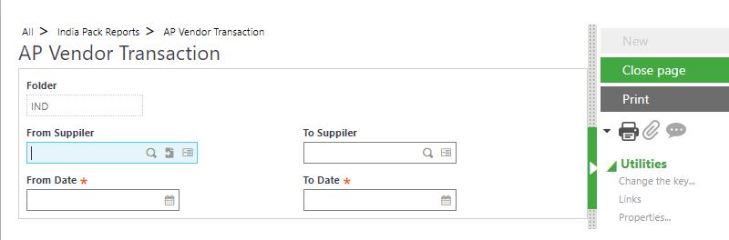 AP Vendor Transaction