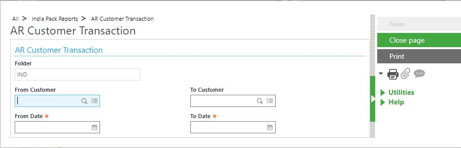 AR Customer Transaction