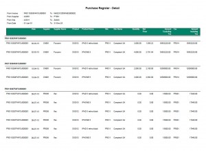 Sage ERP X3 - India Pack - Report