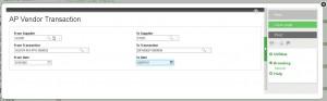 Sage ERP X3, Vendor Transaction Report, Sage Software Solutions, Sage Software