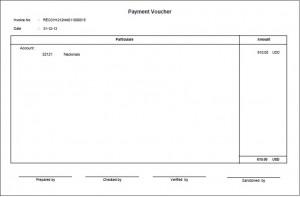 Accounts Payable Invoice & Payment Voucher