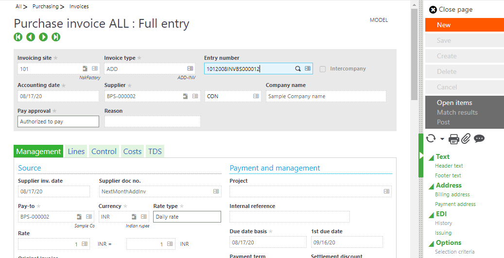 Sage X3 Cost Functionality