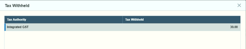 Tax Withheld