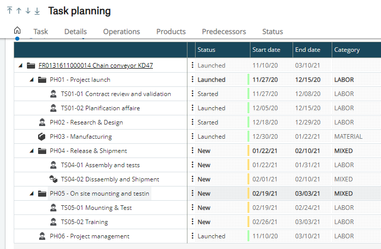 Project Management in Sage X3