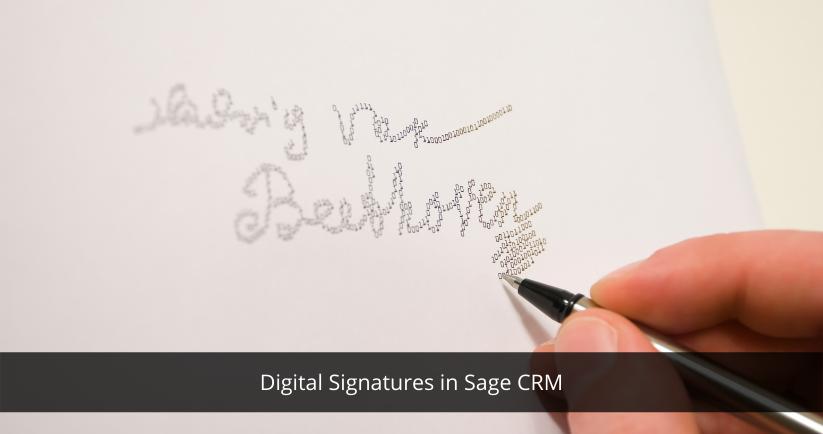 CRM for digital signature