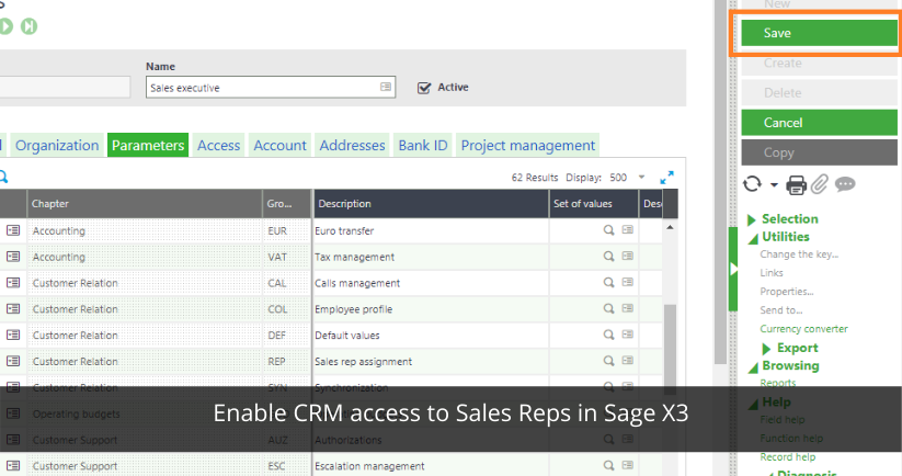 CRM access to Sales Reps