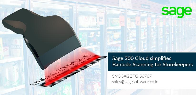 Sage 300 Cloud simplifies Barcode Scanning for Storekeepers
