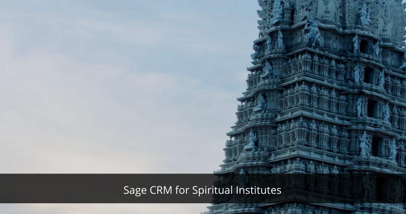 Sage CRM for Spiritual Institutes