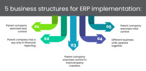 5 business structures for ERP implementation